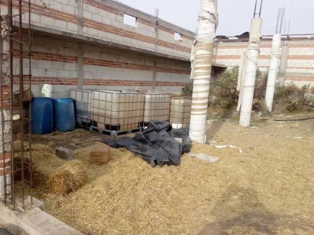 SEDENA y CES en coordinación aseguraron una bodega huachicolera en Tlaxco