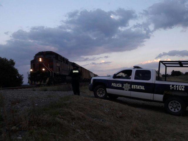 Frustra CES robo a tren y recupera mercancía en Tlaxco