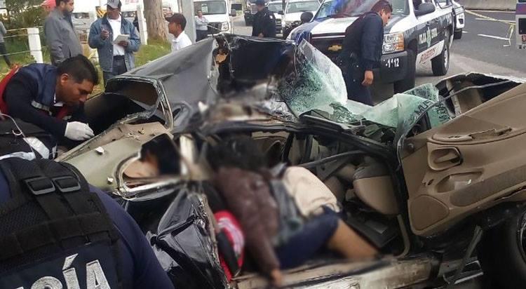 Deja dos muertos fatal accidente en carretera Huamantla-Apizaco