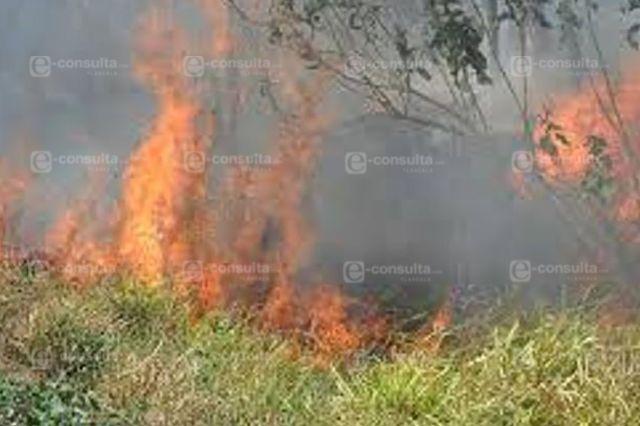 Alto el numero de incendios en Nativitas en lo que va del 2020