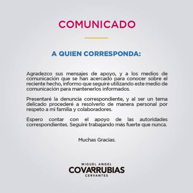 Condena Por Tlaxcala al Frente amenaza en contra de Miguel Ángel Covarrubias