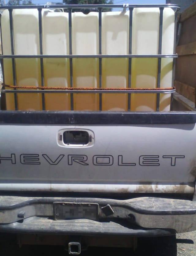Asegura CES un vehículo con huachicol en Ixtacuixtla