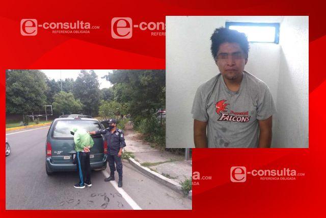 Tras robo a comercio detienen a delincuente en Totolac