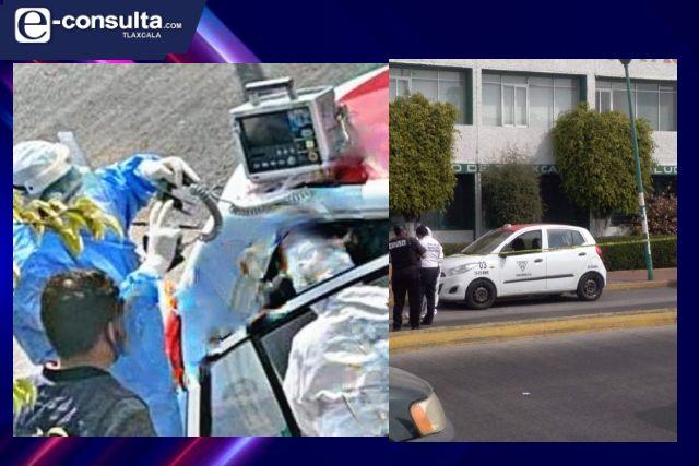 Sujeto muere en Chiautempan, se dirigía a un hospital por dificultades para respirar