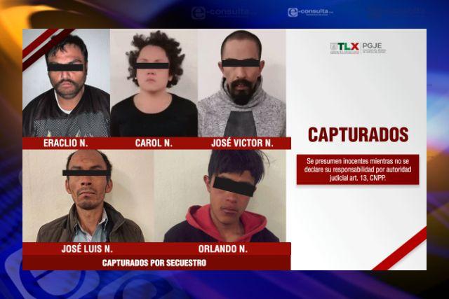 PGJE rescata a tres víctimas de secuestro y desmantela banda delictiva