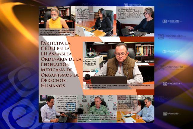 Participa CEDH en asamblea ordinaria de la FMOPDH