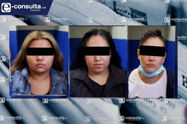 Banda de farderas es detenidas por policias municipales de Chiautempan