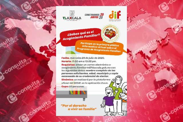 Fortalece DIF estatal difusión del programa de acogimiento familiar