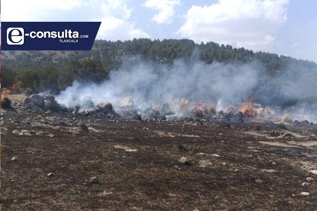 Sofoca PC de Ixtenco incendió en el Cerro de Xalapasco