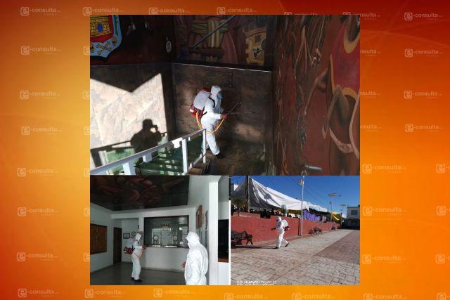 Gobierno de Tzompantepec realizo tercera etapa de sanitización  en el municipio