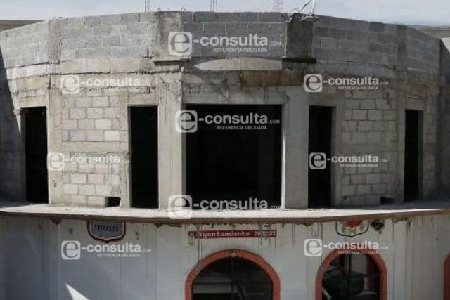 Avanza la construcción de la presidencia de Tecopilco; Covid se resintió en la obra