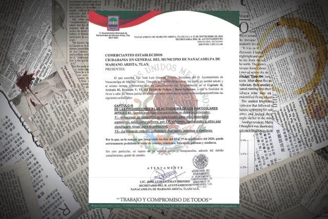 Gobierno de Nanacamilpa restringe el uso de pirotecnia y bebidas alcohólicas