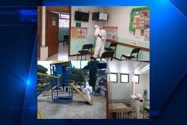 Realizan segunda sanitización en espacios públicos de Ixtenco