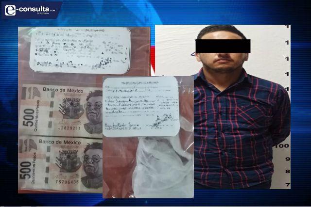 Policía Estatal detiene en Calpulalpan a un sujeto con droga