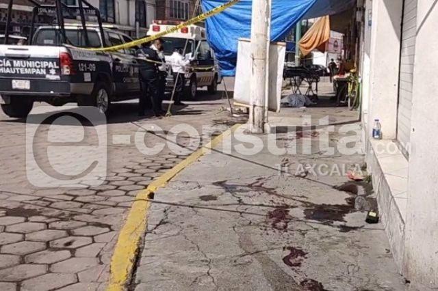 Presunto ladrón muere desangrado en la vía pública de Chiautempan
