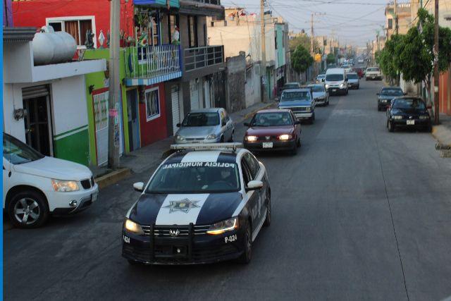 Intensifican operativos en San Pablo del Monte para evitar aglomeraciones