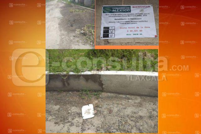 Parchan guarniciones en Contla y Don Cheto dice que se gastó 100 mil pesos