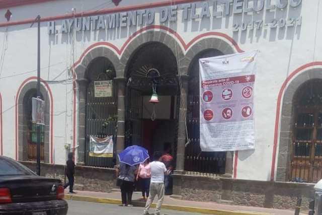Urgente, ayuntamiento de Tlatelulco en riesgo de contraer COVID 19