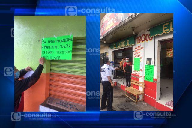 Refuerza Totolac medidas de sanidad en comercios con servicio de alimentos
