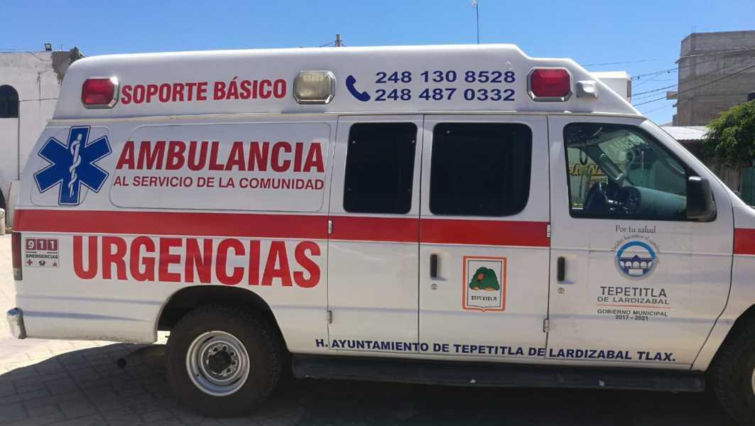 Reequipan una ambulancia en Tepetitla de Lardizábal