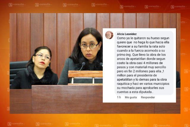 Se caen acuerdos millonarios de María del Rayo por dejar la comisión de finanzas