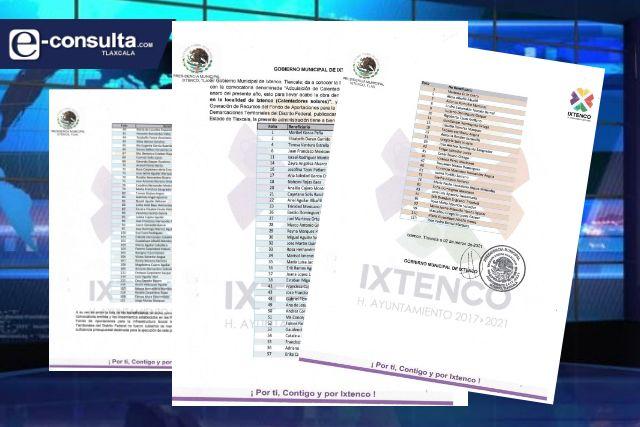 Pública Ixtenco listas de beneficiarios de primera etapa de Adquisición De Calentadores Solares