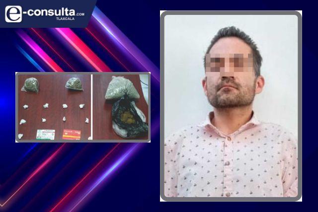 La SSC detiene en Tlaxcala a un sujeto con drogas
