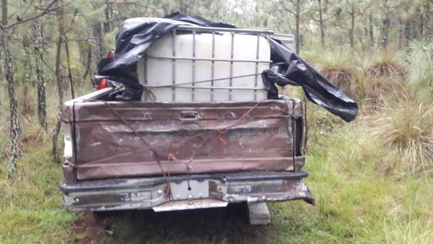 Aseguran un vehículo para huachicol en Nanacamilpa: CES