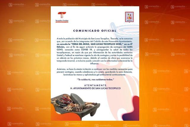 Cancelan feria anual de Tecopilco por la pandemia del Covid – 19