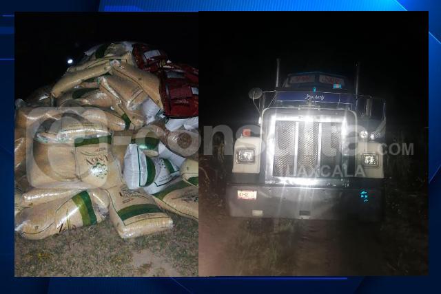 La SSC recupera un camión en el municipio de Cuapiaxtla