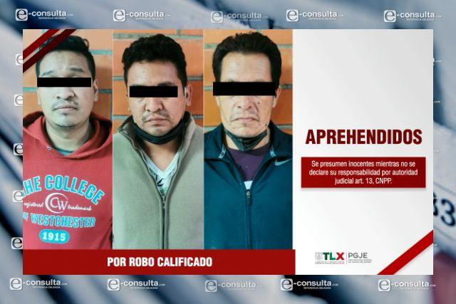 Aprehende PGJE a tres imputados por robo a transporte público