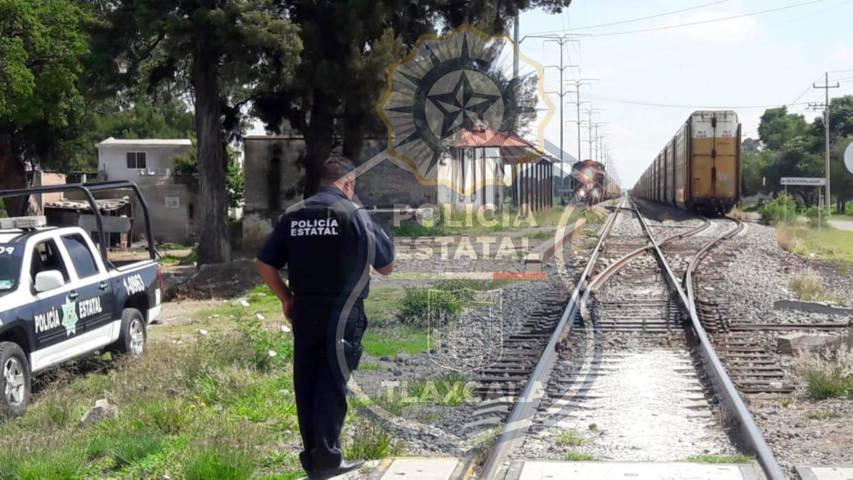 La CES asegura a una persona por robo a tren en Apizaco