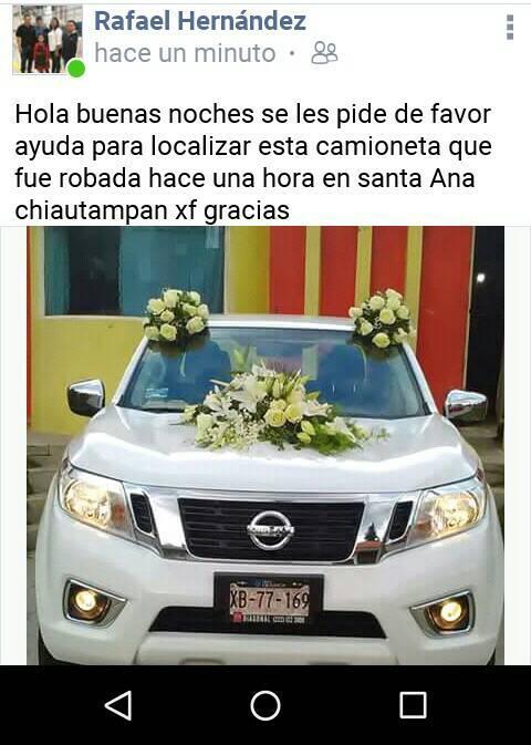 Roban otra camioneta en Chiautempan
