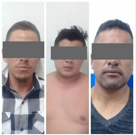 Detienen a tres integrantes de grupo de delincuencia organizada en Chiautempan