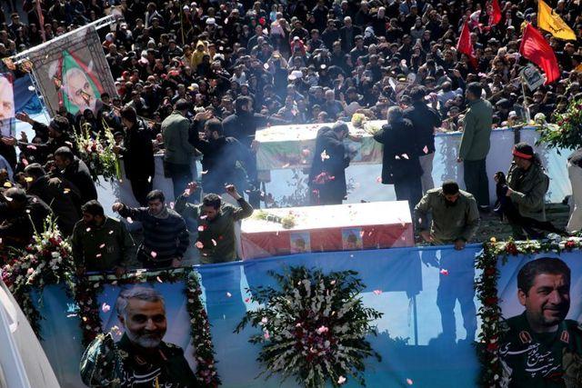 Fallecen en el funeral de Soleimani más de 50 personas en estampida en Irán