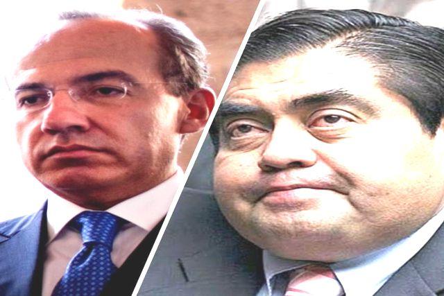 Gobernador de Puebla arremete contra Felipe Calderón por el coronavirus