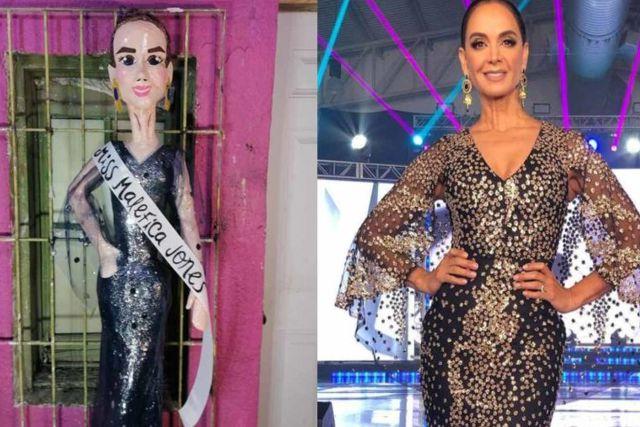 Crean piñata de Miss Maléfica en honor a Lupita Jones