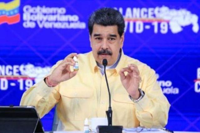 Asegura Maduro que el 100% de los enfermos de Covid se curan con sus gotas milagrosas