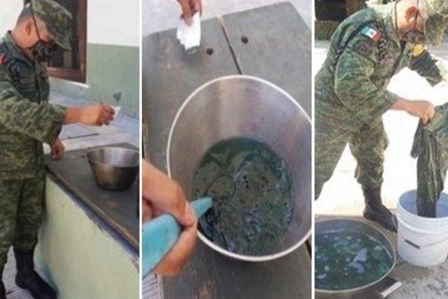 Sedena pide a soldados teñir sus uniformes para ahorrar recursos