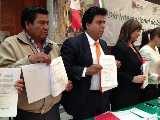 Totolac rompe barreras de exclusión y  firma convenio para emplear a personas con discapacidad
