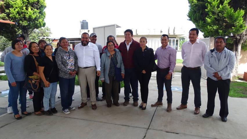 Anuncia Badillo Jaramillo obra para Centro de Atención Múltiple en Xicohtzinco