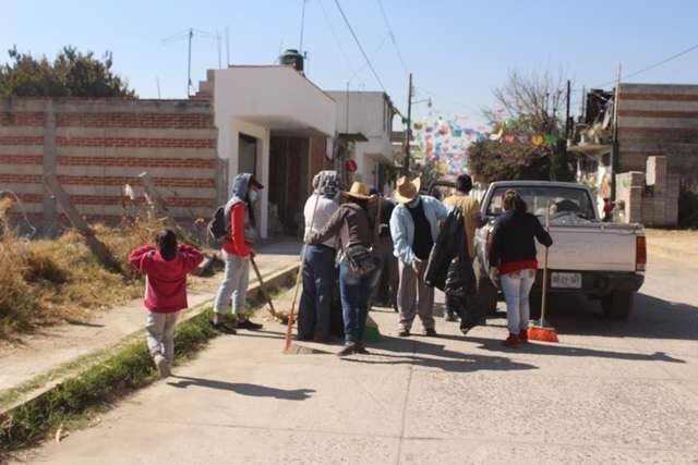 Gobierno Municipal de Tepetitla realizó Jornada de Limpieza en San Mateo Ayecac