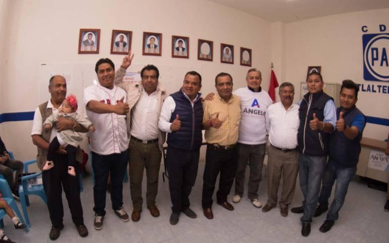 Los panistas de Tlaxcala llevarán al triunfo a Ángelo Gutiérrez