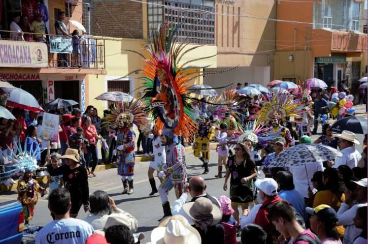 Con un alegre desfile inicio la feria Nanacamilpa 2018 San José y el Pulque