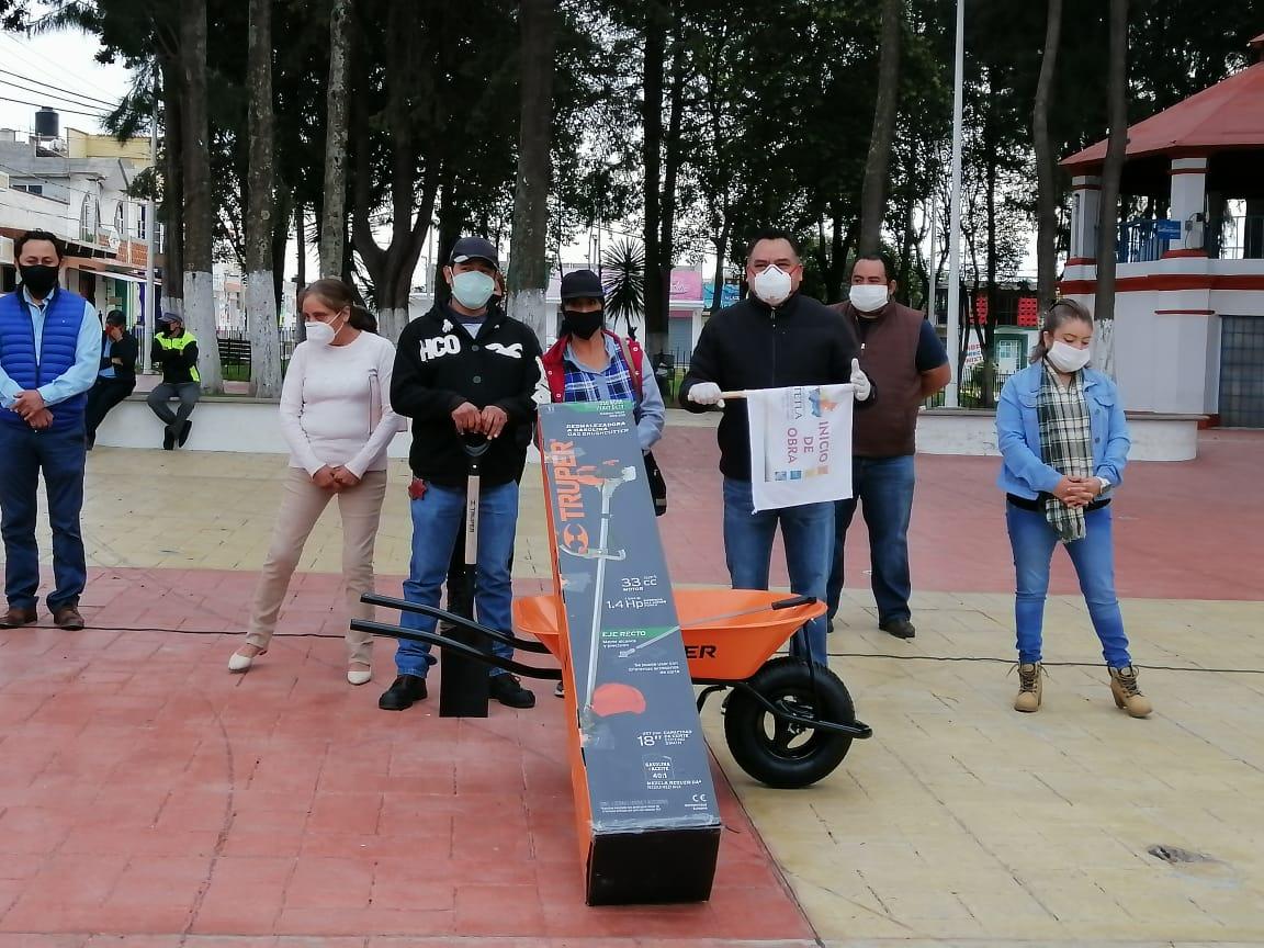Mil ciudadanos se benefician en Tetla con el programa empleo temporal