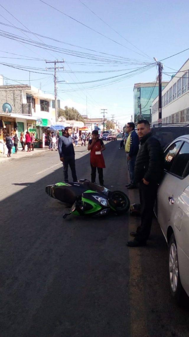 Despliegue policiaco en Apizaco, permite frustrar robo de motoneta