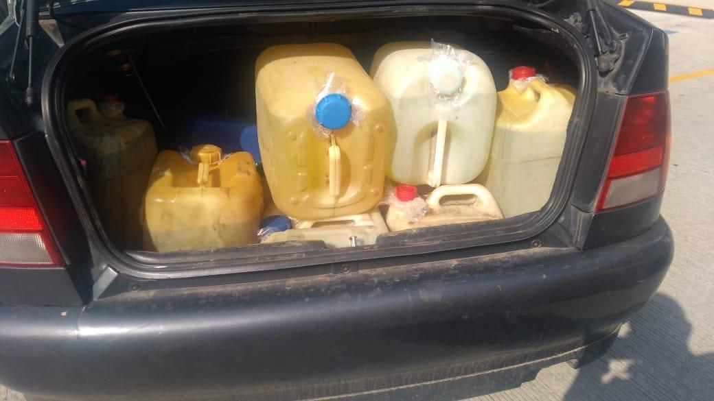 En Ixtacuixtla, la CES aseguró a una persona con posesión de hidrocarburo