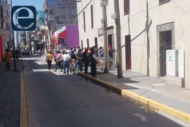 Comerciantes de Chiautempan se manifiestan por el actuar del alcalde