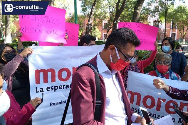 Morenistas de Papalotla se unifican para tirar imposición de Terán