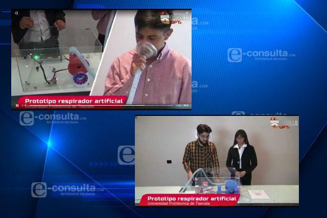 Desarrollan alumnos de la Uptx respiradores artificiales; podrían servir para enfermos de Covid